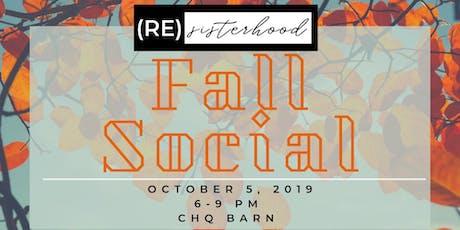 (RE)Sisterhood Fall Social tickets