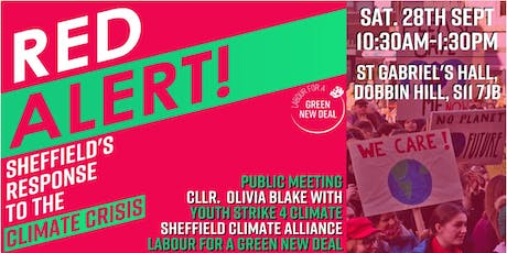 RED ALERT! Sheffield's response to the climate crisis. A Public Meeting. tickets