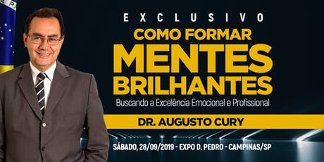 COMO FORMAR MENTES BRILHANTES 2019 - Dr. AUGUSTO CURY ingressos