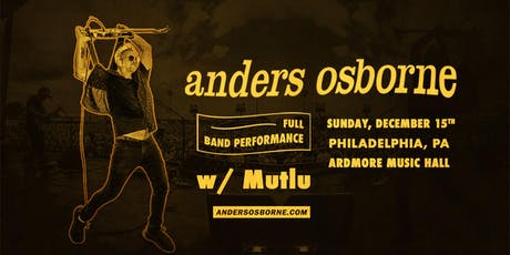 Anders Osborne (Full Band) tickets