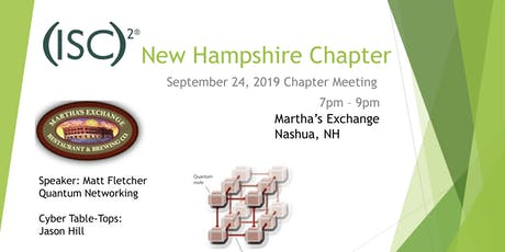 (ISC)² NH Chapter Meeting - 9/24/19 tickets