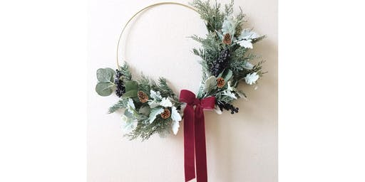 Modern Christmas Wreath: Sip and Craft at Magnanini Winery