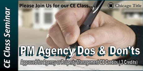 Lunch & Learn CE Class: PM Agency Do's & Don'ts tickets