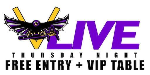 PARTY FREE THURSDAY NIGHT @ V-LIVE ATLANTA - FREE VIP ENTRY + VIP TABLE
