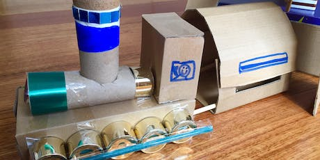 All aboard the train and bridge building craft workshop tickets