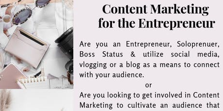Content Marketing for the Entrepreneur  tickets