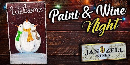 Jan Zell Wines Paint Event Snowman Slate