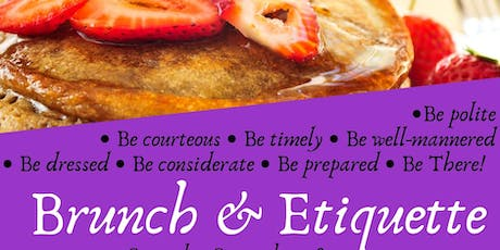 Brunch & Etiquette tickets