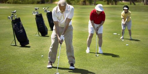Seniors Festival golf clinic at Burnley Golf Course