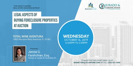 Legal Aspects of Buying Foreclosure Properties at  tickets