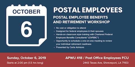 APWU Local 418 Retirement Workshop in Shreveport, LA tickets