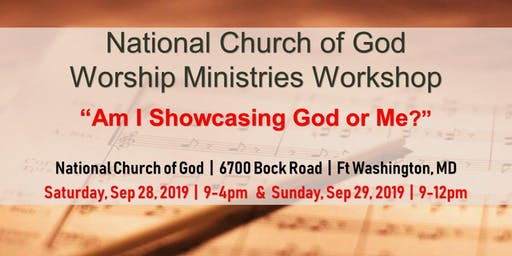 National Church of God Worship Ministries Workshop