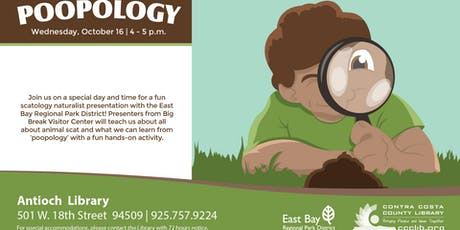 """Poopology"" with East Bay Regional Parks! tickets"