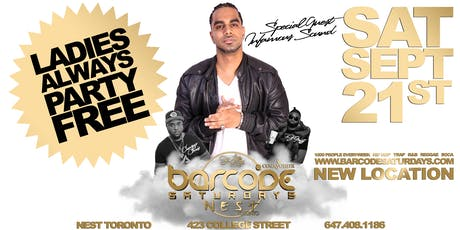 Barcode Saturdays Toronto #1 Urban Party w/ INFAMOUS SOUND tickets