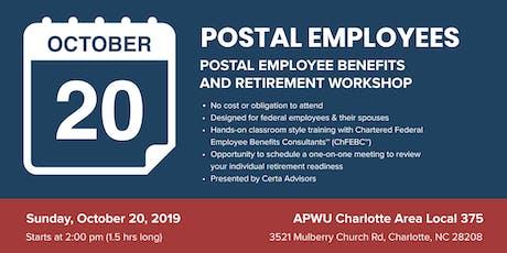APWU 375 Retirement Workshop in Charlotte, NC tickets