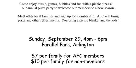 AFC Annual Membership Pizza Party  tickets