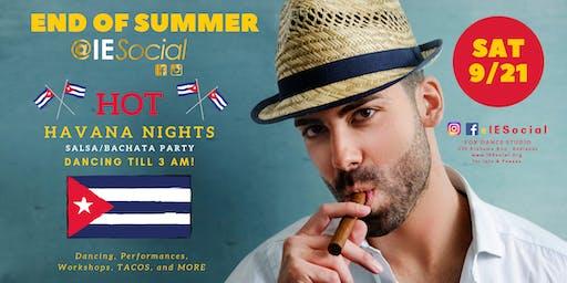 Hot Havana Nights Salsa Bachata party @IESocial 9/21/19