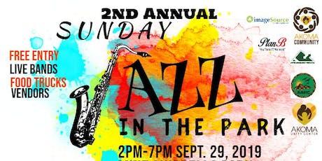 Sunday Jazz in the Park tickets