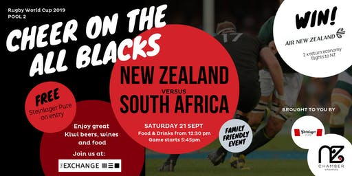 New Zealand  vs South Africa RWC Pool Game