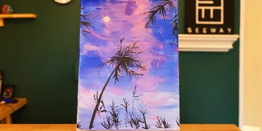 THINGS TO DO -PAINT & SIP EVENT: COCONUT TREE