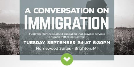 """A Conversation  on Immigration"" - Exodus Foundation Fundraiser tickets"