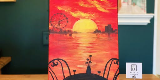 THINGS TO DO -PAINT & SIP EVENT: FIERY SUNSET