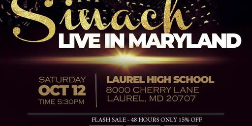 SINACH Live In Maryland