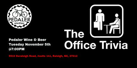 The Office Trivia at Pedaler Wine & Beer tickets