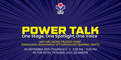 HRDF POWER TALK SESSION 1/2019 tickets