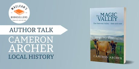 Author Talk: Cameron Archer - The Paterson Valley Then & Now tickets