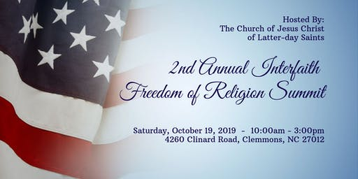 2nd Annual Interfaith Freedom of Religion Summit