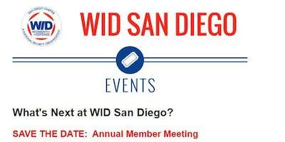 WID Annual Member Meeting- October 01, 2019