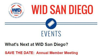 WID Annual Member Meeting- October 01, 2019 tickets