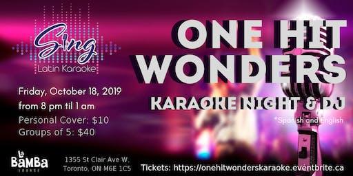 One Hit Wonders Karaoke Night