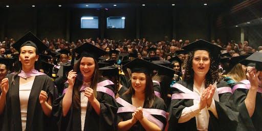UTAS Hobart Summer Graduation, 11.00am Tuesday 17 December 2019