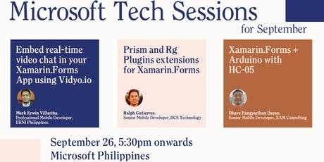 Microsoft Tech Sessions - September tickets