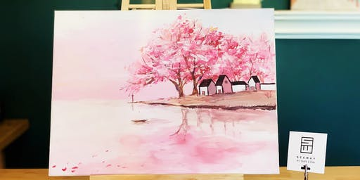 THINGS TO DO -PAINT & SIP EVENT: CHERRY BLOSSOM