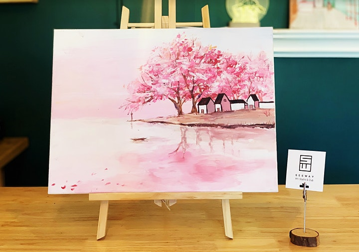 Things To Do Paint Sip Event Cherry Blossom Tickets Sun
