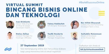 Virtual Summit, Bincang Bisnis Online Dan Teknologi tickets