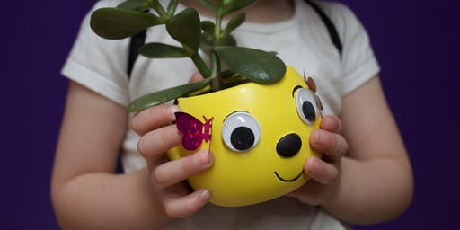 Bee Friendly Ceramic pot with flowering plant