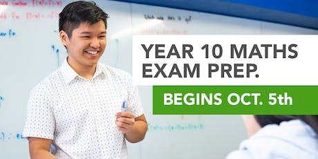 Year 10 Maths Yearlies Exam Prep Workshop tickets
