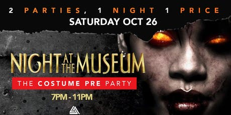 2 Halloween Parties 1 price 1 Night tickets