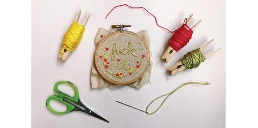 Embroidery 101: Hoops (2019-09-22 starts at 2:00 PM)
