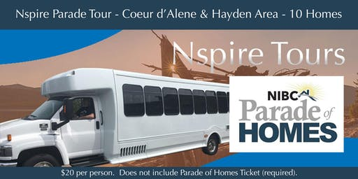 Parade of Homes Bus Tour - CdA & Hayden Area