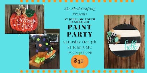 St John UMC Paint Party Fundraiser