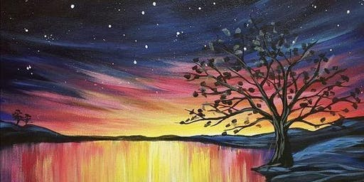 Night sky sunset