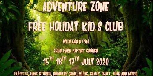"""In the Wild"" Adventure Zone Kid's Club 2020"