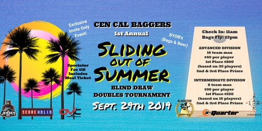 CEN CAL Baggers: 1st Annual 'Sliding out of Summer' Cornhole Tournament