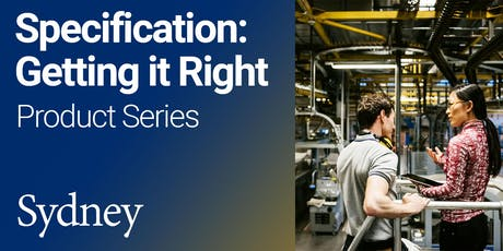 Specification: Getting it Right Product Series (Sydney) tickets