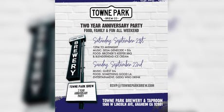 Towne Park Brewery & Taproom Two Year Anniversary Celebration tickets